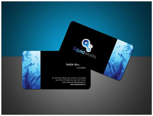 LiquidWorks Business Card by iTudor photoshop resource collected by psd-dude.com from deviantart