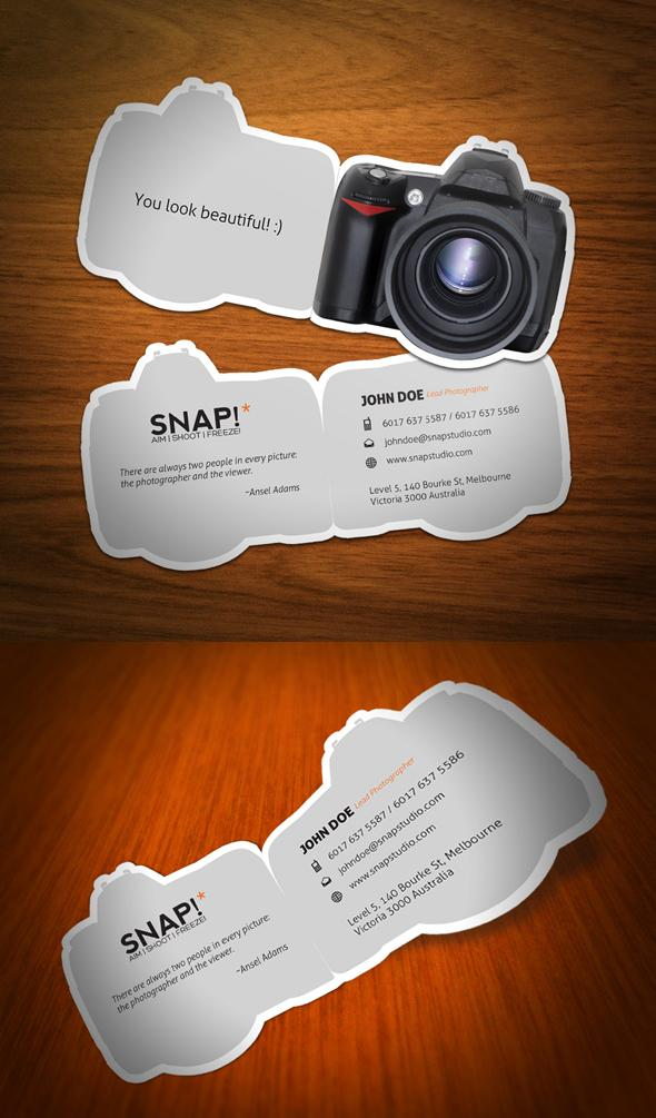 35 creative business cards psddude snap business card reheart Choice Image