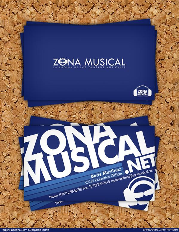 Zonamusical Business Card by EAMejia photoshop resource collected by psd-dude.com from deviantart