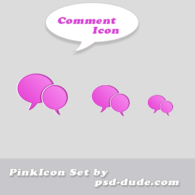 Comment icon by psd-dude photoshop resource made by psd-dude.com