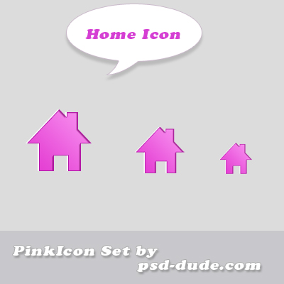 Home icon by psd-dude photoshop resource made by psd-dude.com