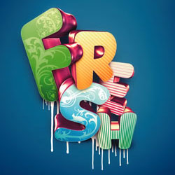 <span class='searchHighlight'>3D</span> Typography Text Effects Photoshop Tutorials psd-dude.com Resources