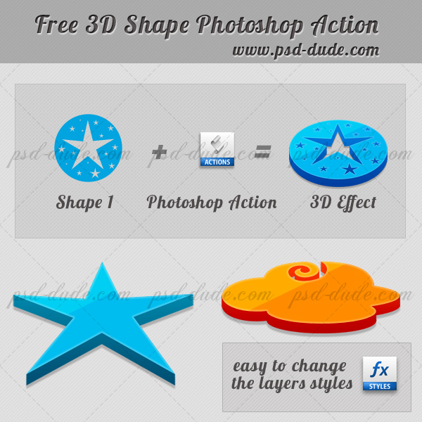 3D Action Photoshop