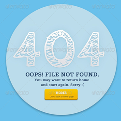 404 Error Page with PSD File psd-dude.com Resources