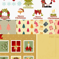 5 Free Christmas Vector Graphics for Winter Time psd-dude.com Resources