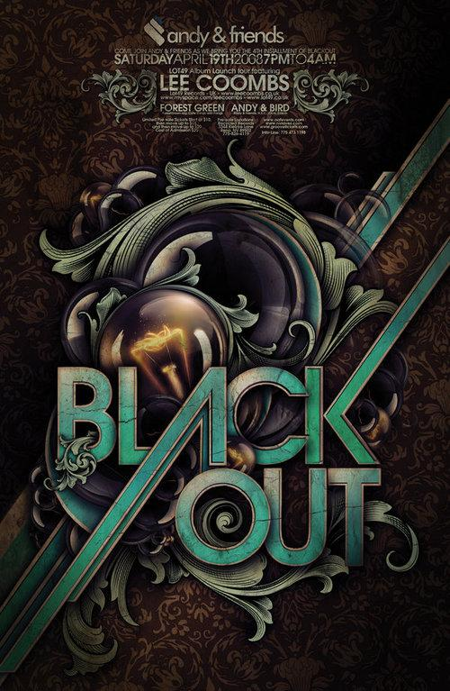Blackout by Steve Goodin; photoshop resource collected by psd-dude.com from Behance Network