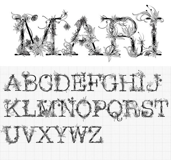 Mari typeface by Doug Alves / Nacionale(tm); photoshop resource collected by psd-dude.com from Behance Network