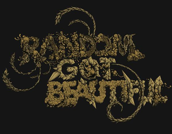 Random Got Beautiful by Daniel J Diggle; photoshop resource collected by psd-dude.com from Behance Network