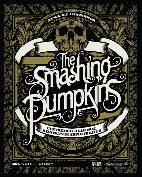 Smashing Pumpkins Poster by Joshua M. Smith; photoshop resource collected by psd-dude.com from Behance Network