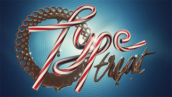 Type Treat by Alex Beltechi; photoshop resource collected by psd-dude.com from Behance Network