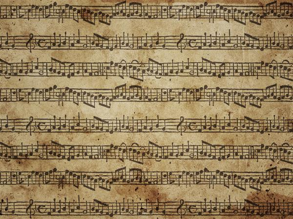 Music notes old paper texture