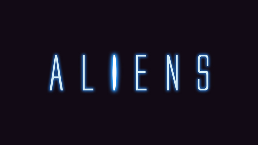 Aliens 1986 Text Effect