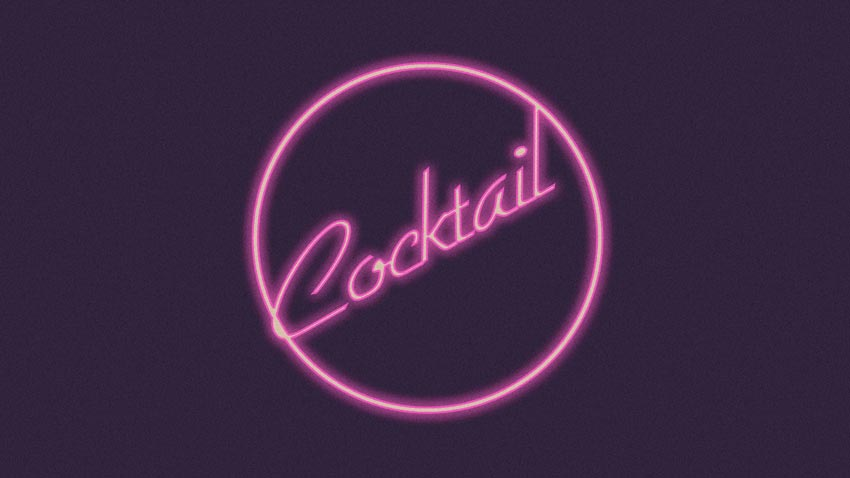 Cocktail 1988 Text Effect