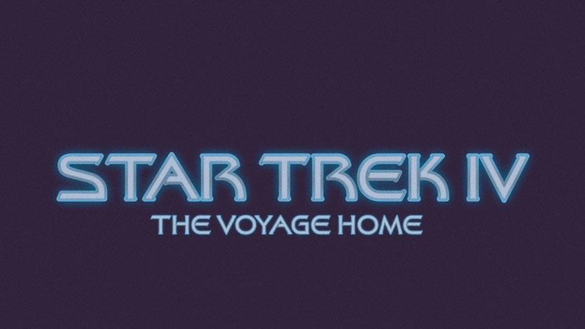 Star Trek IV: The Voyage Home 1986 Text Effect