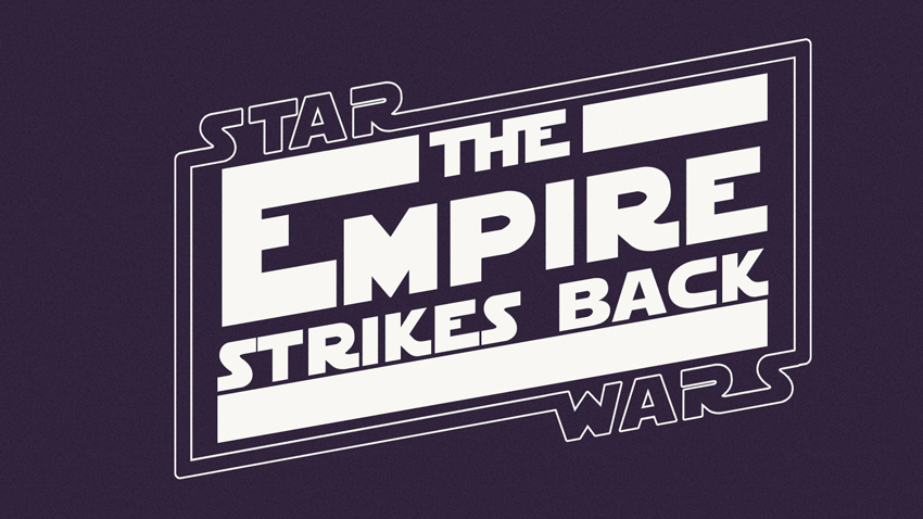 Star Wars V: Empire Strikes Back 1980 Text Effect
