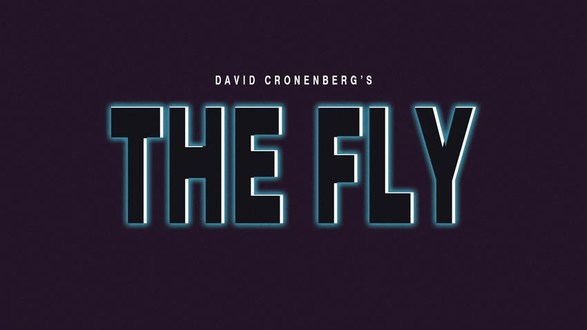 The Fly 1986 Text Effect