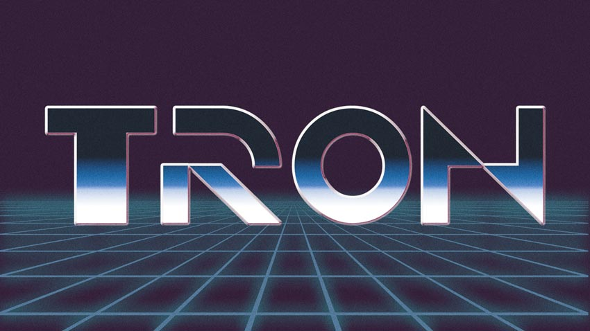 TRON 1982 Text Effect