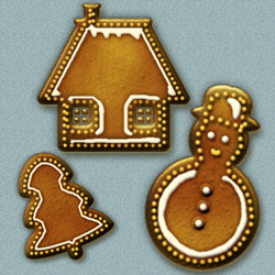Gingerbread Icons for <span class='searchHighlight'>Christmas</span> psd-dude.com Resources