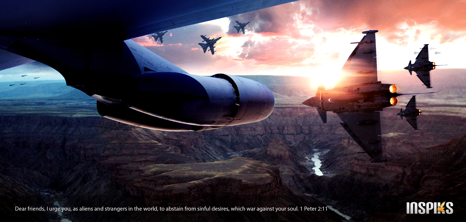 Create a Cinematic Air Battle Scene in Photoshop
