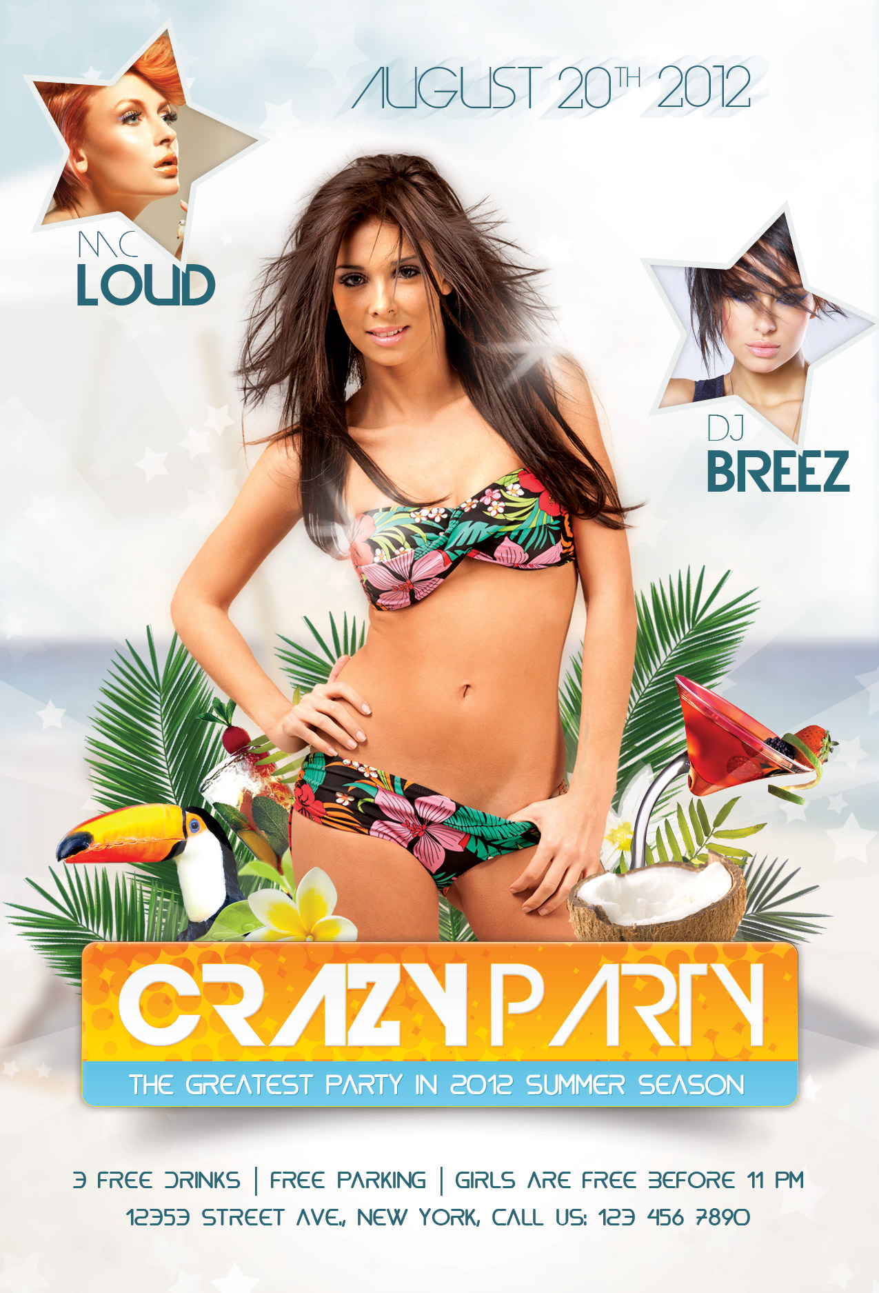 Design a Summer Party Flyer in Adobe Photoshop