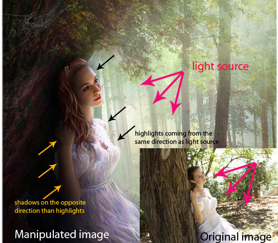 Shading And Lighting in Photoshop Manipulation