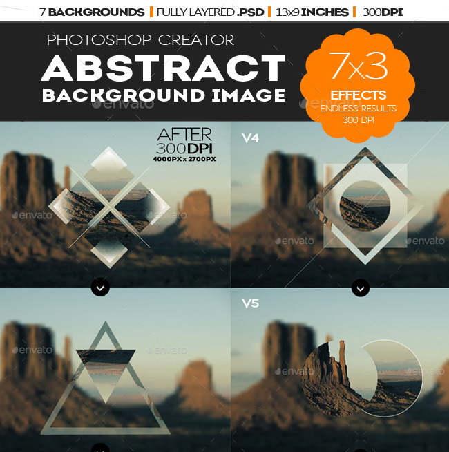Abstract Geometric Photo Collage Template