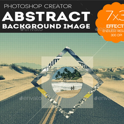 Abstract Geometric Photo Collage Template psd-dude.com Resources