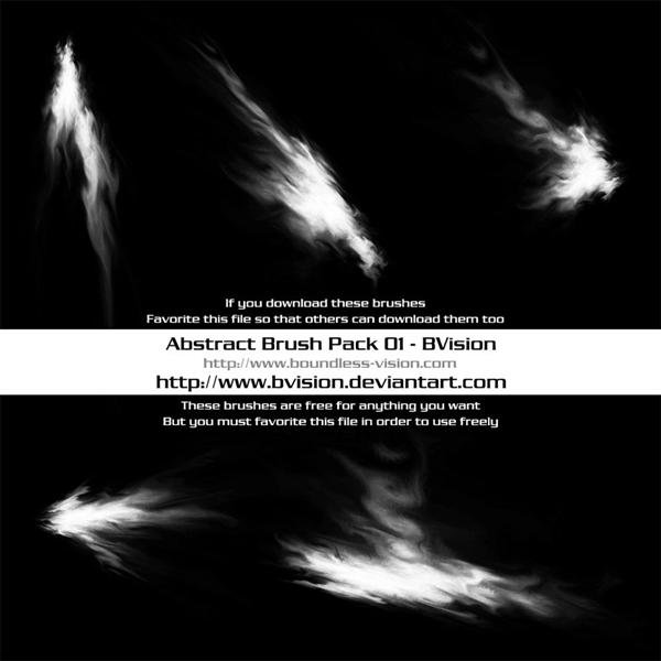 Abstract Brush Pack 01 by BVision photoshop resource collected by psd-dude.com from deviantart