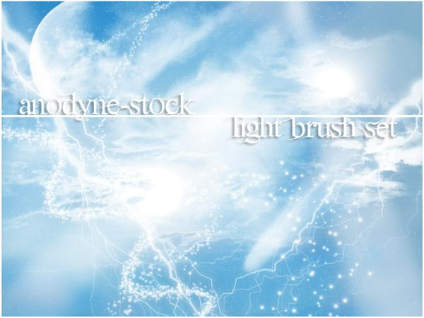 Light Brush Set by anodyne-stock photoshop resource collected by psd-dude.com from deviantart