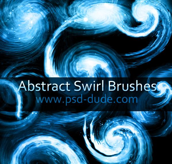 Swirl Brushes by PsdDude photoshop resource collected by psd-dude.com from deviantart