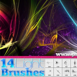 Abstract Light Brushes for Photoshop psd-dude.com Resources
