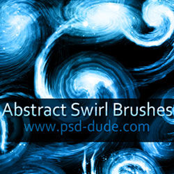 Abstract Swirl Photoshop Brushes psd-dude.com Resources