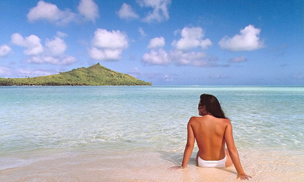 first photoshoped photo: jennifer in paradise