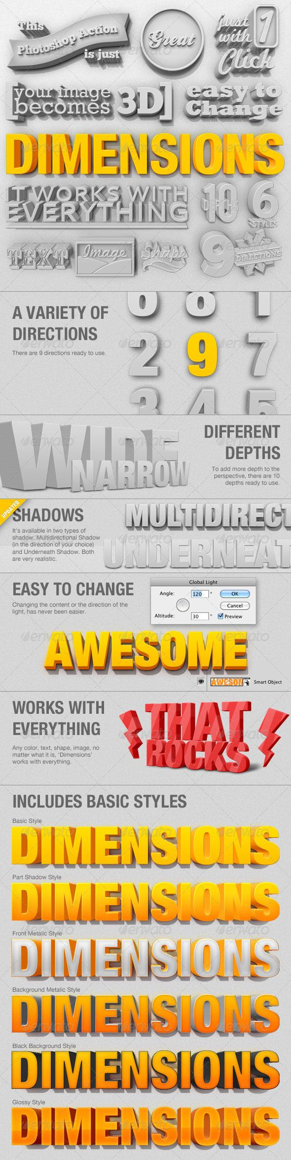 3D Generator with Shadow Photoshop Action