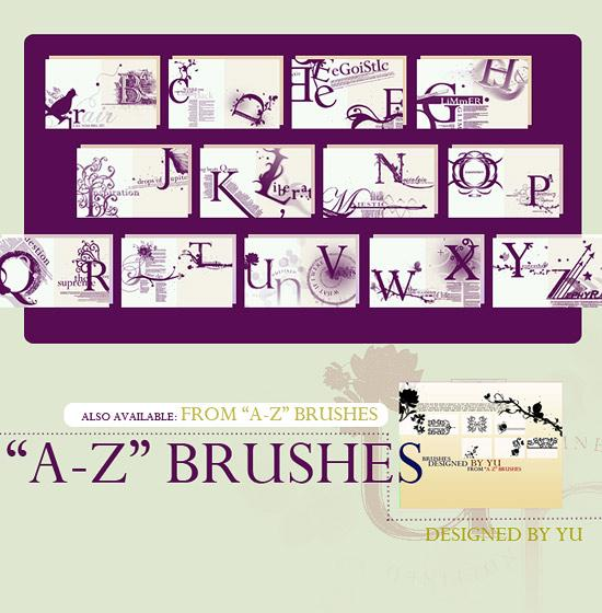 AZ brushes by yu-resource photoshop resource collected by psd-dude.com from deviantart