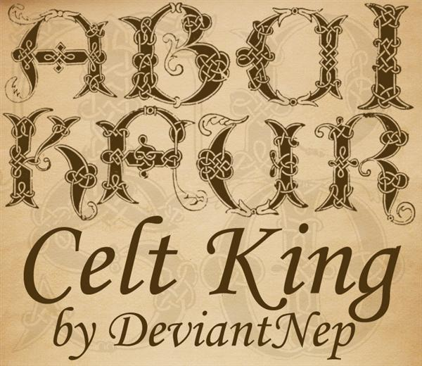 Celt King by DeviantNep photoshop resource collected by psd-dude.com from deviantart