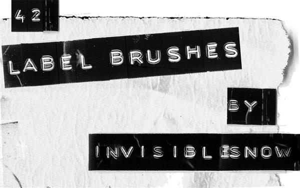 Label Brushes by InvisibleSnow photoshop resource collected by psd-dude.com from deviantart