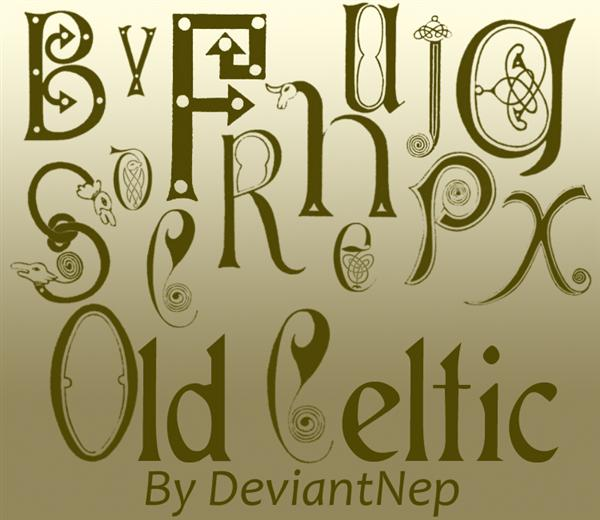 Old Celtic by DeviantNep photoshop resource collected by psd-dude.com from deviantart