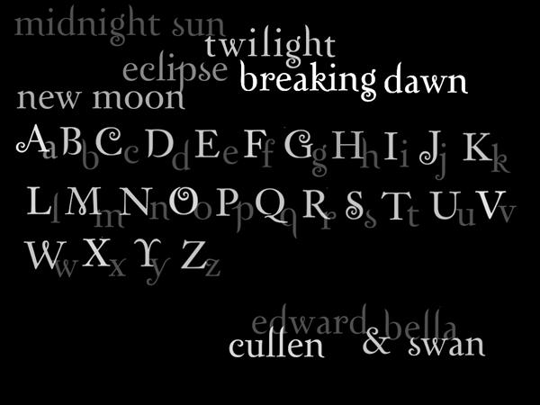 Twilight Font Brushes by laceface1011 photoshop resource collected by psd-dude.com from deviantart