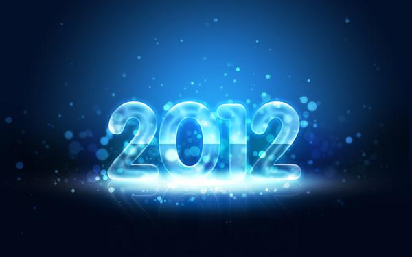 Create a 2012 Text Effect in Photoshop with Blue Bokeh Lights