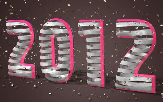 3d ribbon wrapped text effect in Photoshop