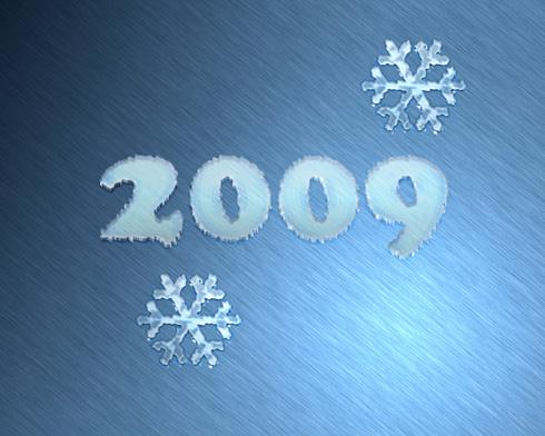 Winter Inspired New Year Photoshop Text Effect