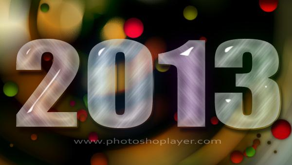 New year 2013 text effect in Photoshop