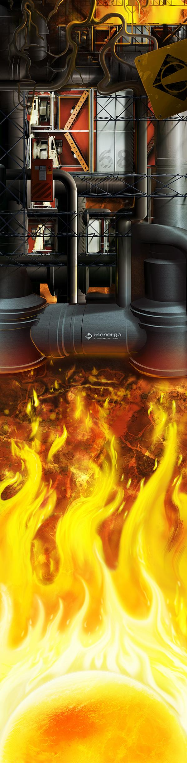 Menerga Energy System by David Fuhrer; photoshop resource collected by psd-dude.com from Behance Network