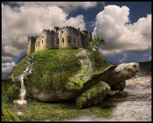 Castle Turtle by Heineken79 photoshop resource collected by psd-dude.com from deviantart