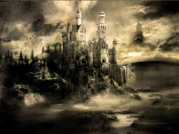 Mystical Castle by 666Kain-666 photoshop resource collected by psd-dude.com from deviantart
