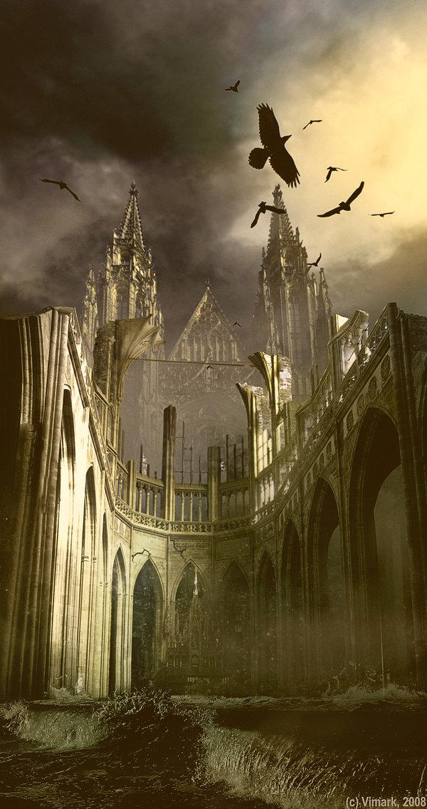 Somber Castle by vimark photoshop resource collected by psd-dude.com from deviantart