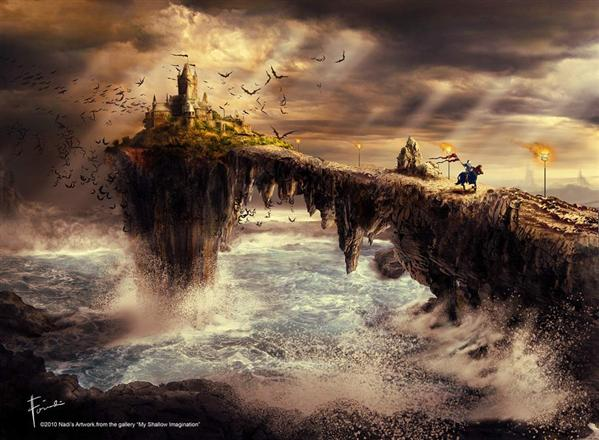 The cursed castle by Firnadi photoshop resource collected by psd-dude.com from deviantart