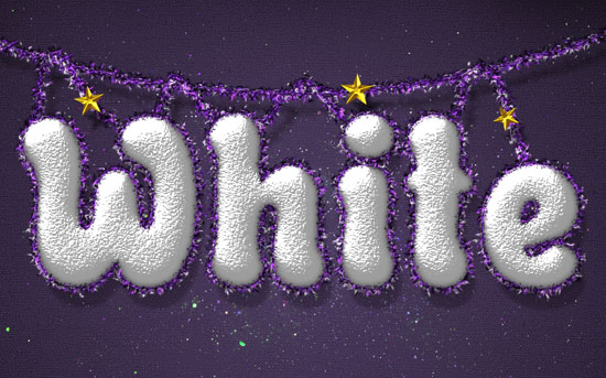 White Christmas Snow Photoshop Text Tutorial