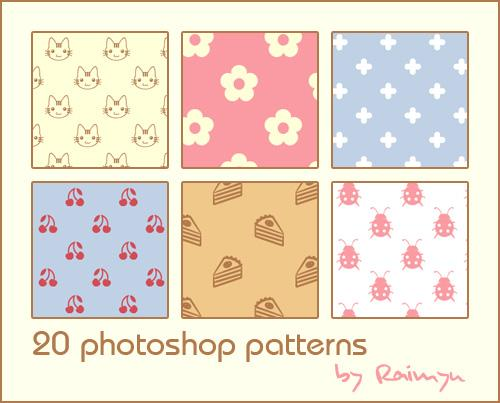 Patterns by Raimyu photoshop resource collected by psd-dude.com from deviantart